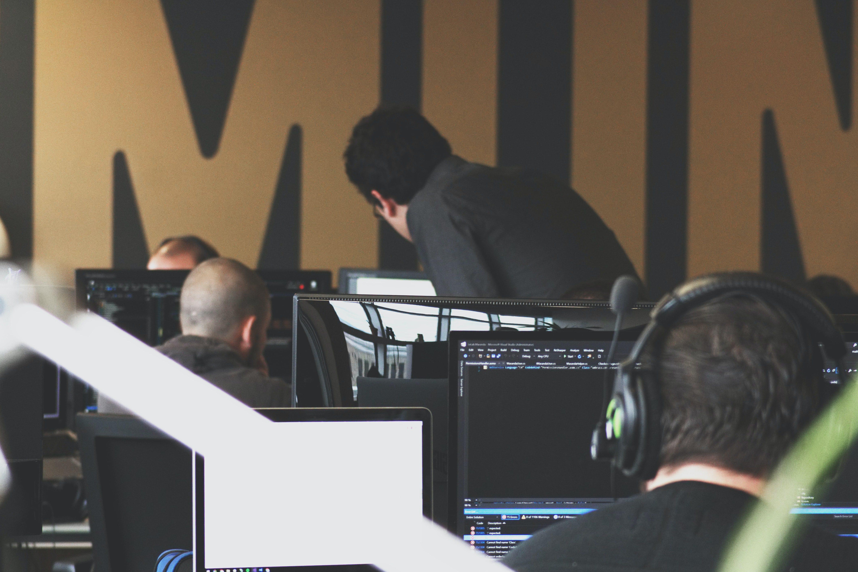 Agency Employee's Working on Computers